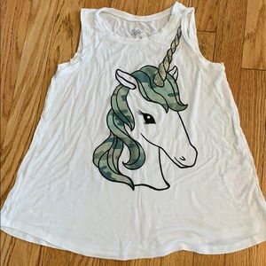 Justice Shirts & Tops - Justice unicorn tank top